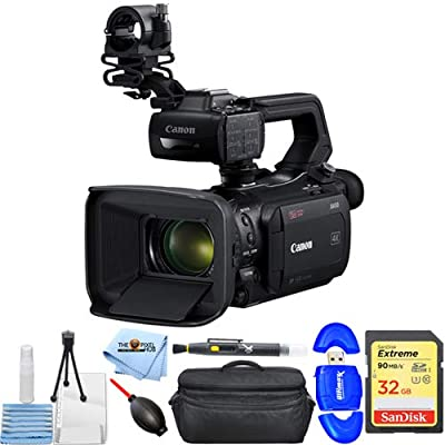 Canon XA50 UHD 4K30 Camcorder with Dual-Pixel Autofocus Starter Bundle with Extreme 32GB SD, Reader, X-Large Gadget Bag, Cleaning Pen, Blower, Microfiber Cloth and Cleaning Kit [International Version] from Canon (PH)