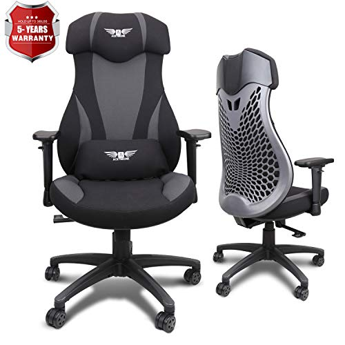 Acethrone PC Gaming Chair Ergonomic Office Chair Desk Chair with Lift Headrest and Armrests, Flexible Adjustable Height and Reclining Device black chair gaming