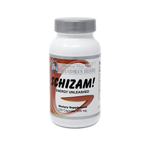 Grandma's Herbs - Schizam - Energy Unleashed - Herbal Remedy For Natural Boost in Metabolism and Energy - 100 Capsules - 506 mg