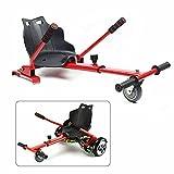 Silla Kart Seat compatible con patinetes eléctricos, Hoverboard Go Kart de 6,5/8/10 pulgadas para niños  13 años, asiento Kart 80 x 43,5 x 44 cm, talla única