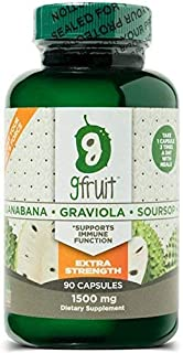 #1 Potency Graviola Soursop Guanabana Caps | 1500MG Per Capsule | 90 Days | Made in USA | Vegan | Gluten Free | Non GMO