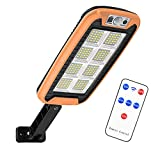 MERIGLARE Luces Solares para Jardín Luz de Pared con Sensor de Movimiento LED - Naranja 160LED 8 Rejilla