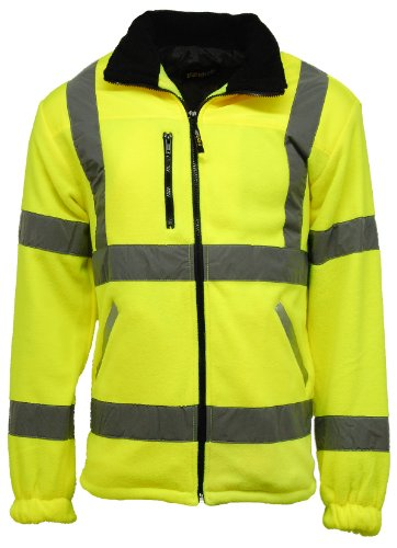 Veste de sécurité en polaire pour homme Haute visibilité Doublée -  jaune -
