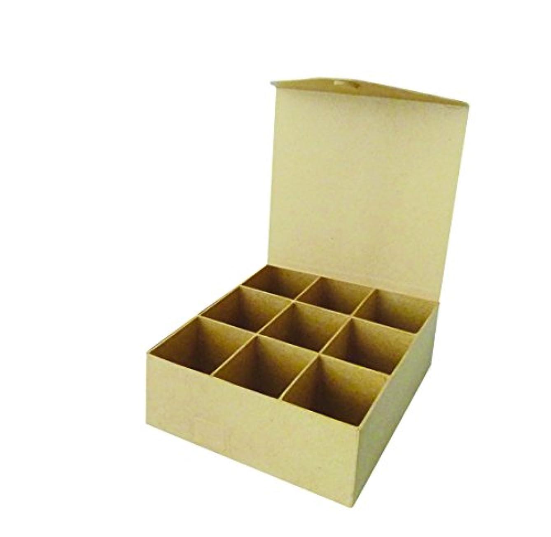 Exaco Decopatch Mache Tea Bag Box, Brown, 21 x 20 x 7.5 cm