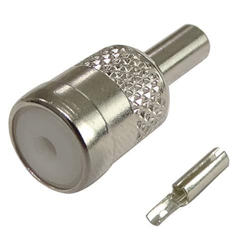 Aerzetix: ISO krimp aansluiting voor auto radio antenne kabel RG174 C16595