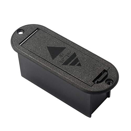 Milisten 9V Batteriefach Schwarzer Gitarren-Batteriehalter für Musikinstrumente mit Aktivem Gitarren-Bass-Tonabnehmer