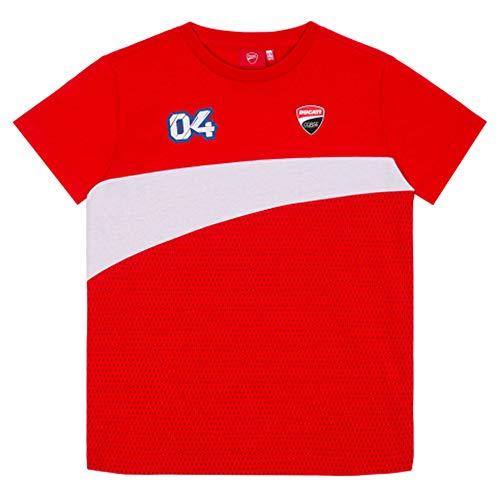 Andrea Dovizioso 2020 04 T-Shirt für Herren und Kinder, offizielles MotoGP Merchandise, Rotes Dovi Ducati T-Shirt, Kids (6-8 Years)
