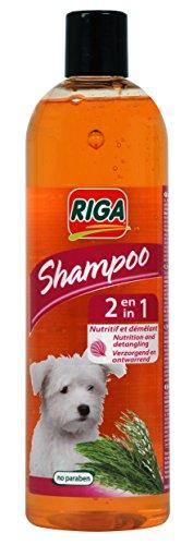 Riga Shampooing 2 en 1 pour Chien 500 ML - Lot de 2