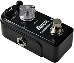 AZOR Distortion Guitar Pedal Effect 3 Modes Natural,Tight,Classic with True Bypass Black AP-302