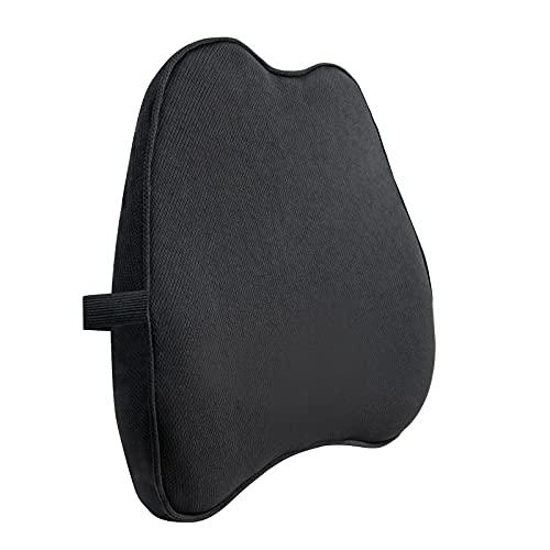 Amazon Basics - Cuscino di supporto per la zona lombare, in memory foam, nero