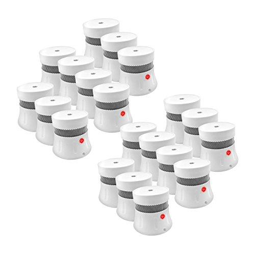 20er Set Mini Rauchmelder Inklusive 5 Jahre Batterie | Feuermelder | Brandmelder | Feueralarm