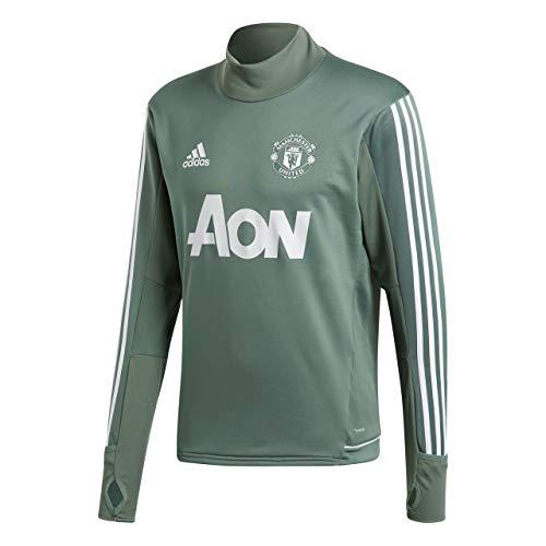 adidas Herren Manchester United Trainingsoberteil, Tragrn/White, S