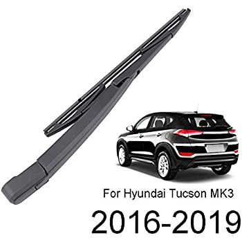 X AUTOHAUX Rear Windshield Wiper Blade Arm Set for 04-08 Hyundai Tucson 04-09 Kia Sportage