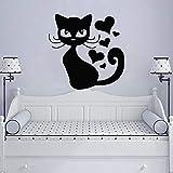 Modeganqingg Neues Angebot Katze wandaufkleber wasserdicht Kunst Aufkleber Dekoration mit...