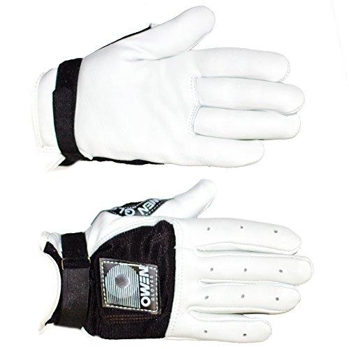 Owen Handball Gloves (Black, Large)