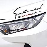 日産エクストレイルXトレイルT30 T31 T32 2013-2019、自動ランプ眉毛デカールヘッドライト車の装飾ステッカー