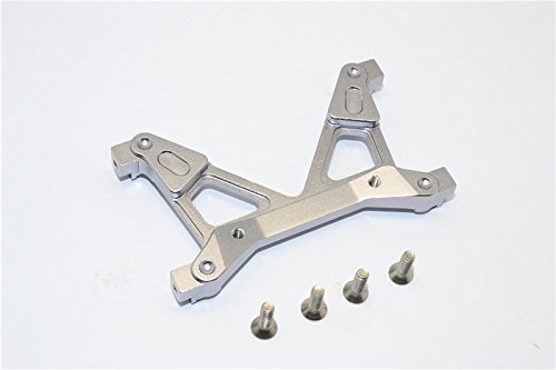 Axial SCX10 II Upgrade Pièces (AX90046, AX90047, AXI90075) Aluminium Rear Chassis Stabilized Mount - 1Pc Set Grey Silver