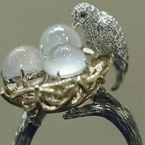 RONSHIN Kerst Decoratie Geschenken, Natuurlijke Handgemaakte Ring Vogels Nest Ring Ei Vrouwen Sieraden Bruiloft Bruidsgeschenken