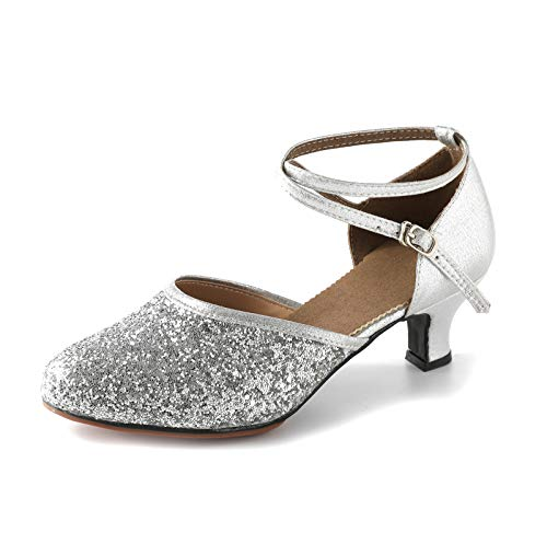 Beclati Women's Suede Sole Wedding Shoes Rhinestone Ballroom Dance Shoes Glitter Performance Shoes Party Dance Shoes for 1920s