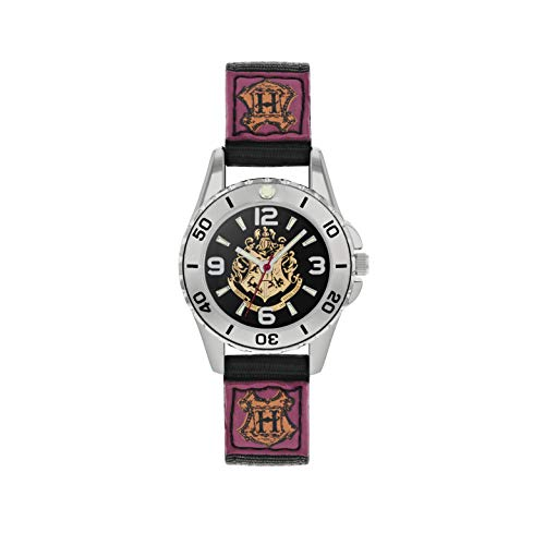 Harry Potter Unisex Analoog Kind Analoog Quartz Horloge met Canvas Band HP5100