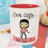 La mente es Maravillosa - Taza con Frase y Dibujo. Regalo Original y Gracioso (Drink Coffee and Beat it!) Taza Michael Jackson