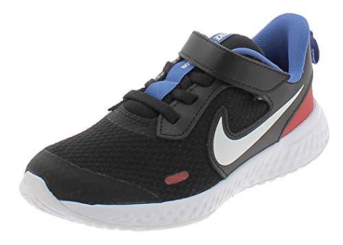 Nike Scarpe Bambino Sportiva Sneakers da Ginnastica estive Nere Blu e Rosso 33.5 EU