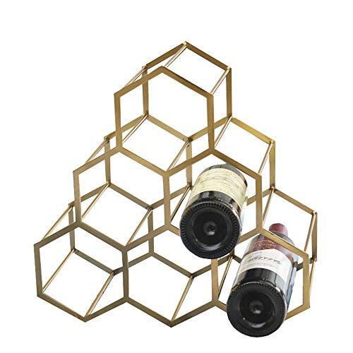 Shopps Bronze Weinregal, kann in mehrere Flaschen aus hochwertigem Edelstahl gelegt Werden, kann in Rotwein gelegt Werden und für die Dekoration zu Hause verwendet Werden.