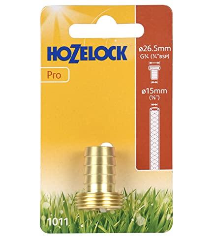 Hozelock Tricoflex 10110000latón Grifo 3/4AG de diámetro 15mm, Oro, 12x 7x 3,1cm