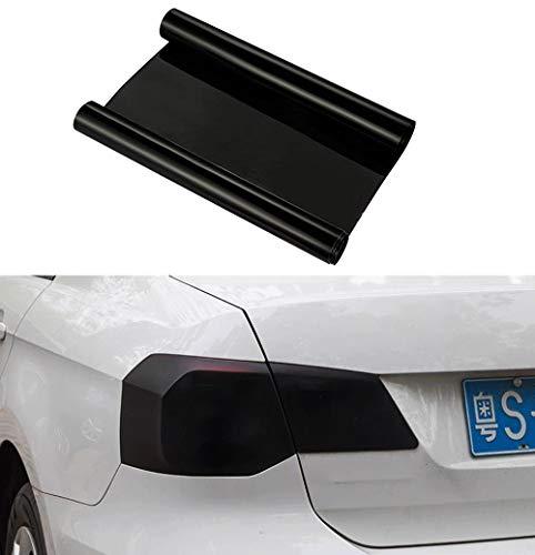 fangfei 12 by 48 inches Self Adhesive Auto Car Tint Headlight Taillight Fog Light Vinyl Smoke Film Sheet Sticker Cover (Black)