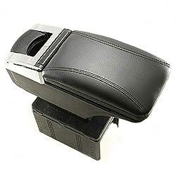 Mittelarmlehne Armlehne Universal Konsole Mittelkonsole Kunstleder Aufbewahrungsbox Schwarz A B C G H J CC 3 4 5 6 7 Autohobby