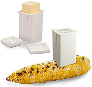 Happy Sales Corn Butter Spreader (Set of 2), White