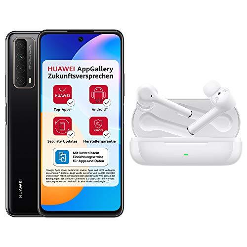 HUAWEI P smart 2021 Dual SIM Smartphone (16,94 cm - 6,67 Zoll, 128 GB interner Speicher) midnight black + 5 EUR Amazon Gutschein + FreeBuds 3i True Wireless Kopfhörer mit Active Noise Canceling