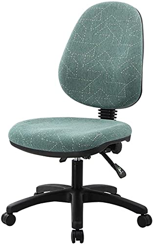 Home Office Chair Swivel Chair, Cloth Middle Back Executive Adjustable Swivel Office Chair Lumbar Support Computer Desk Chair with Lifting Backrest (Color : A)