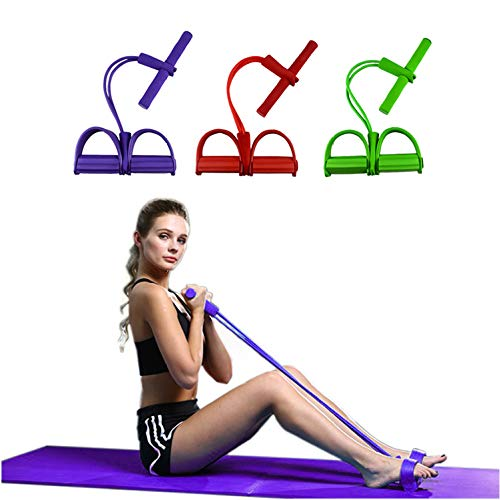 KDLLK Fußpedalabzieher Resistance Elastic Pull Rope Übung Rudergerät Belly Resistance Band Home Gym Sporttraining Elastic Bands für Fitnessgeräte
