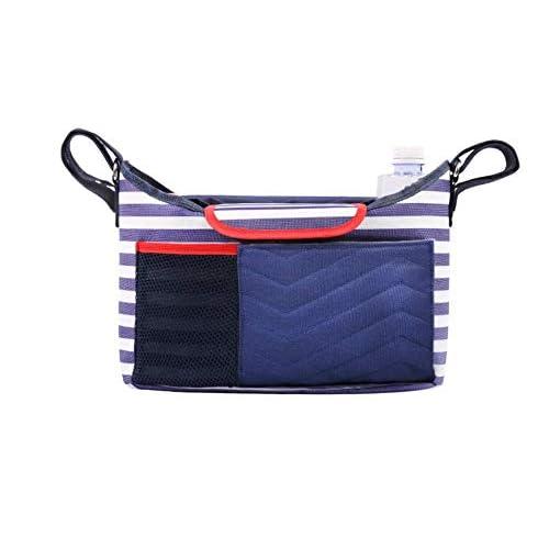 Organizer portaoggetti per passeggino carrozzina Buggy borsetta pacchetto Pieghevole Leggero Multi Funzioni per staccabile Borsa cibo e bibite Spazioso