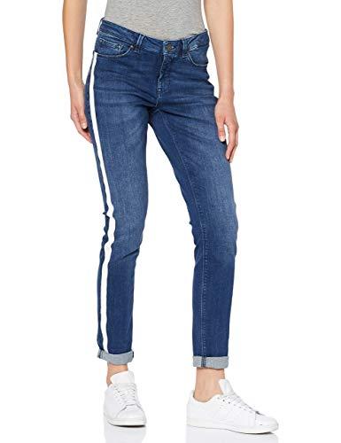 OPUS Damen Elma Stripe Slim Jeans, Blau (Blue Open 7331), 34W / 32L