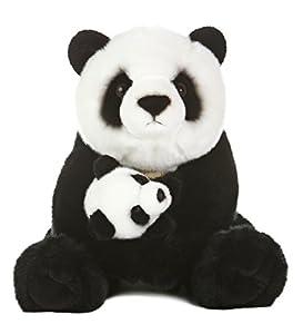 "Aurora World Miyoni Panda Bear with Cub Plush, 15"""