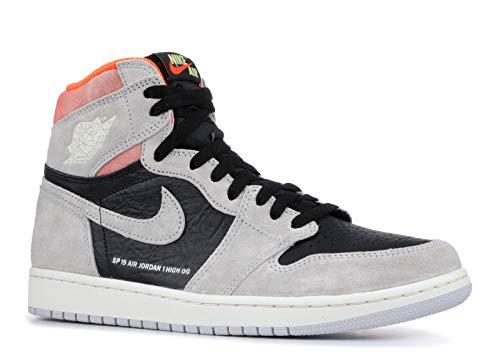 Jordan 1 Retro High OG, Zapatillas de Deporte para Hombre, Multicolor (Neutral Grey/Black/Hyper Crimson/White 000), 48.5 EU