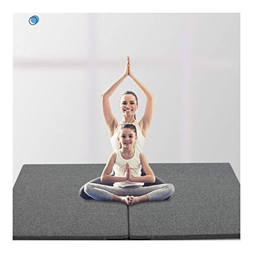 Turnmatten LXHONG Klappbare Turnmatten,rutschfest Sportmatte, Reißfest Bodenmatte Für Schulgymnastik Yoga Raum, 3 Größen (Color : Black, Size : 50x100x5cm)