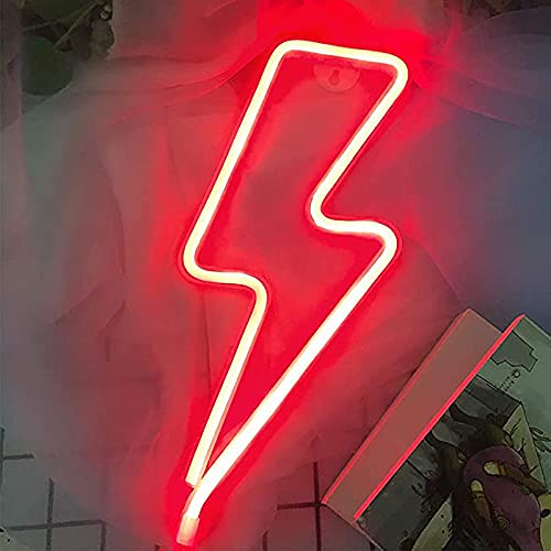 LED Relámpago Letreros de Neón Letreros de Neon Rayo Luz Neon Pared Home luz decorativa de pared con batería y USB Art Wall Luces decorativas Luces de neón para dormitorio...