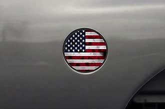 Car-Gear Gas Cap Decal Fuel Door Graphics Kit 3M Vinyl Decal Wrap Compatible with Dodge Ram 1500 2002-2008 - USA Flag