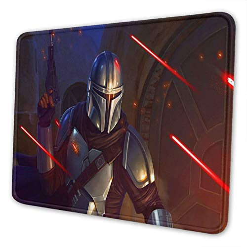 Star Mandaloria_n Wa_rs Mouse Pad Mat Gaming Unique Custom Mousepad, Computer Keyboard, Stitched Edges, Office Ideal for Desk Cover, Large Mouse Pats, Laptop and PC 7 x 8.6 in