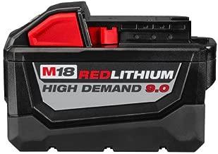 Milwaukee 48-11-1890 M18 REDLITHIUM HIGH DEMAND 18V 9.0 Ah Lithium-Ion Battery Pack