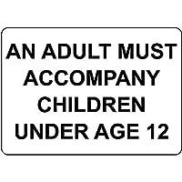 大人は未成年の子供に同行する必要があります メタルポスター壁画ショップ看板ショップ看板表示板金属板ブリキ看板情報防水装飾レストラン日本食料品店カフェ旅行用品誕生日新年クリスマスパーティーギフト