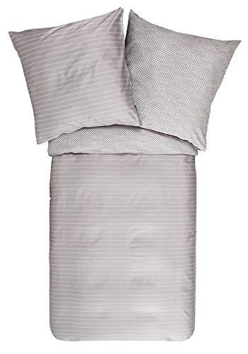 Zucchi Bettwäsche NAMIB | V7 grau - 135 x 200 cm