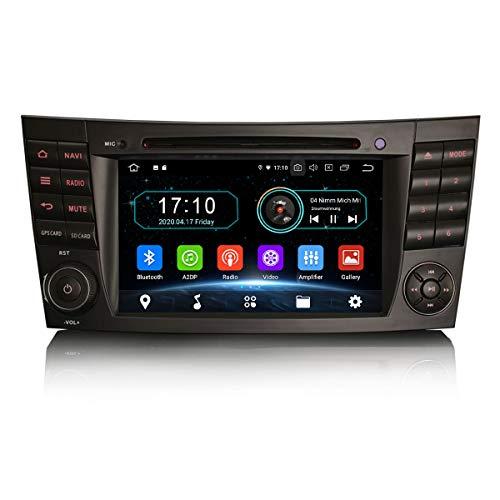 Erisin Android 10.0 7'Radio de Coche DVD para Mercedes Benz Clase E/CLS/G W211 W219 W463 Admite Dab + Navi Carplay DVD Bluetooth WiFi DVB-T2 OBD PX30 2GB RAM + 16GB ROM
