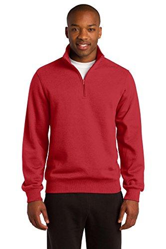 Sport-Tek Men's 1/4 Zip Sweatshirt M True Red