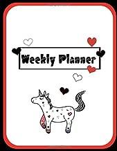 Weekly Planner: Undated Perpetual~Cutie Unicorn Theme Planner 52 Weeks V10