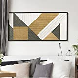 Other Furniture Modern- Geometric Wood Wall Art- Vertical Wood Wall Art Panel