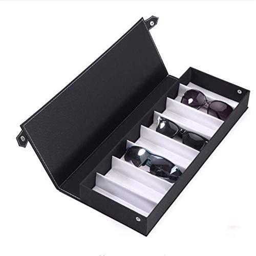 Brillen-Aufbewahrungsbox mit 8 Fächern, Schaubox für Brillen, Sonnenbrillen, Uhren, Schaufenster Schwarz